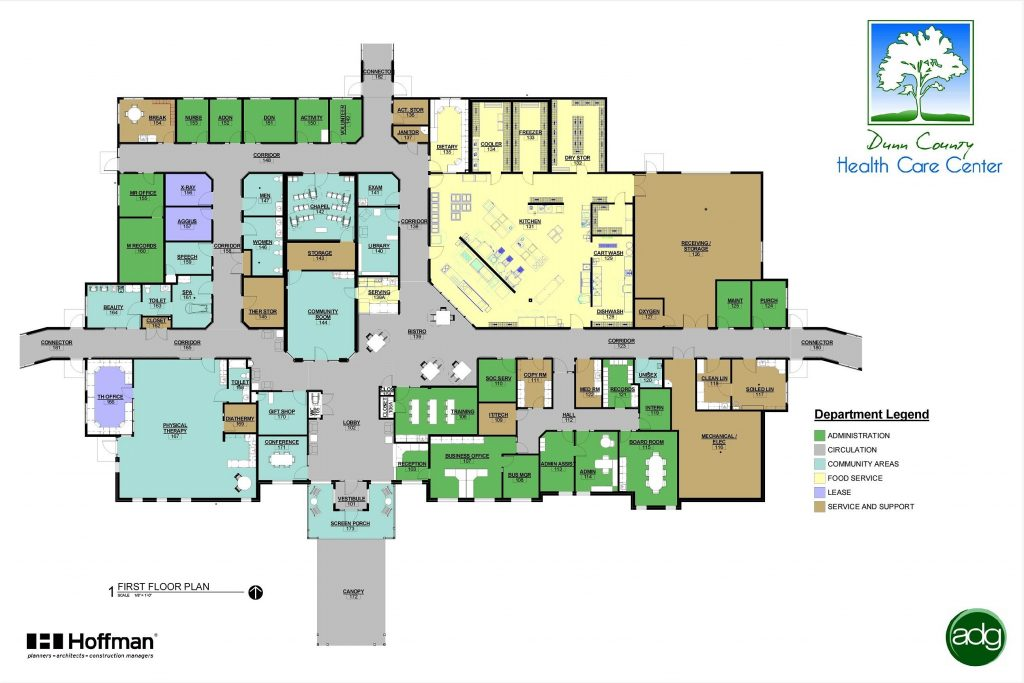 Floor plans of the neighbors of dunn county 39 s facilities Floor plan search