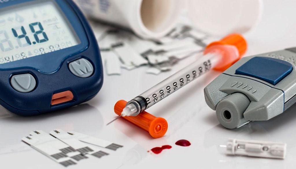 Glucose testing kit.