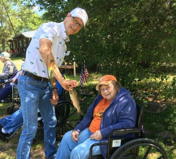 Nursing Home Residents Gardening