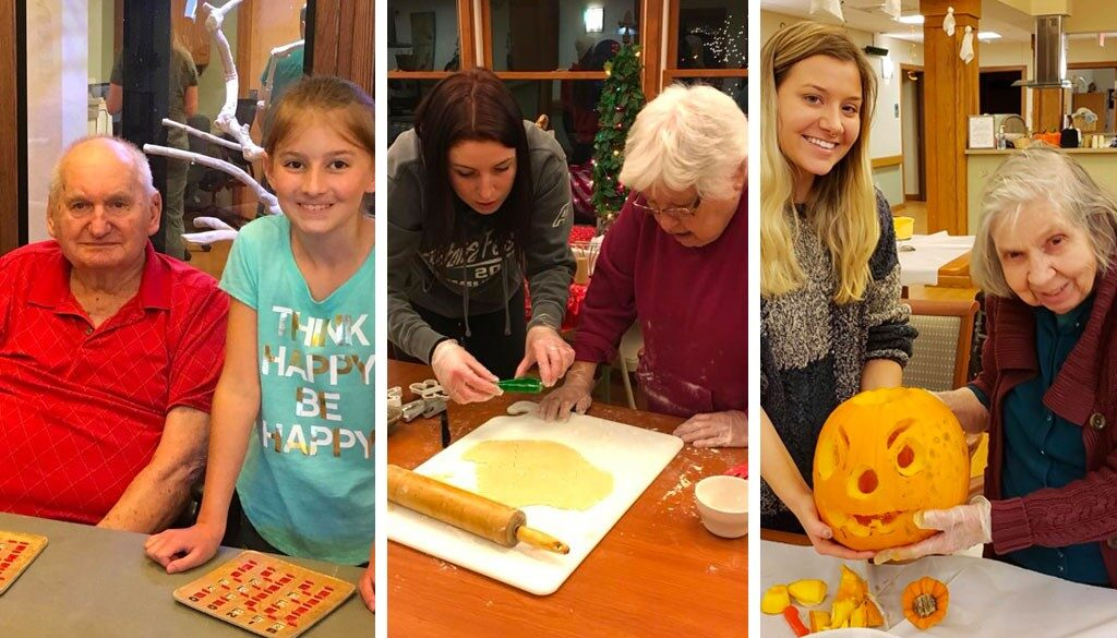 Holiday activities with family at The Neighbors of Dunn County.