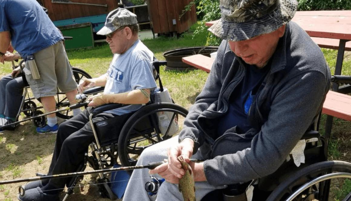Older Individuals Fishing
