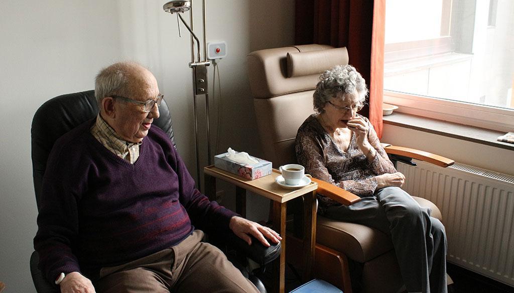 Changes in behavior for elders with Alzheimer's.