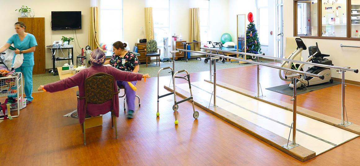 Nursing Station at The Neighbors Nursing Home in Wisconsin