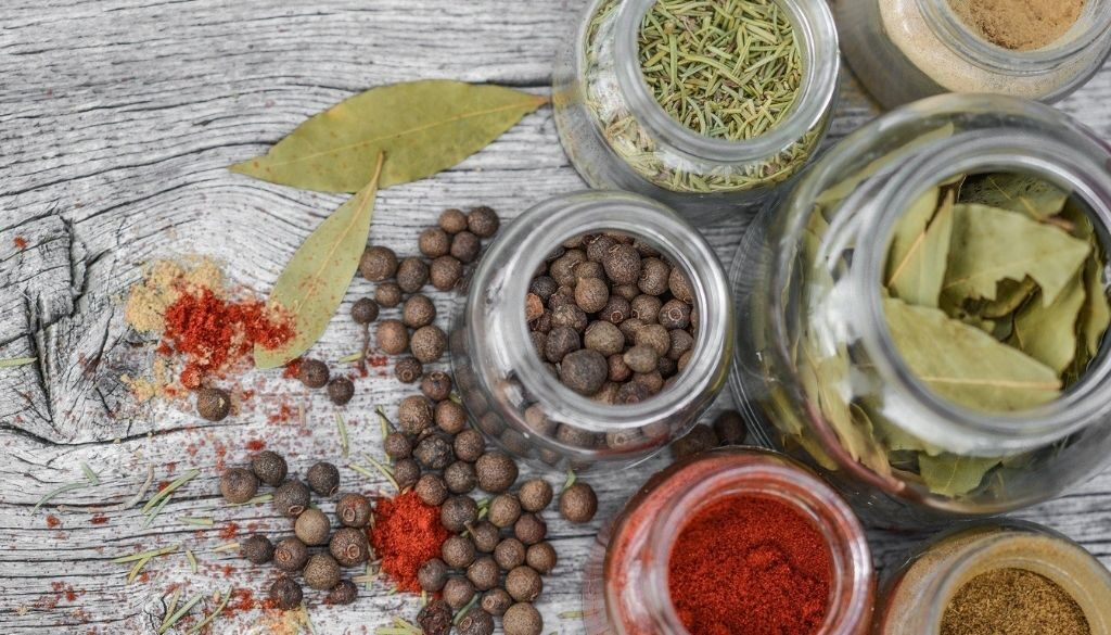 Using spices for cooking with seniors.